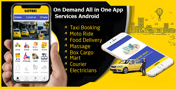 GoTaxi - On Demand All in One App Services Android