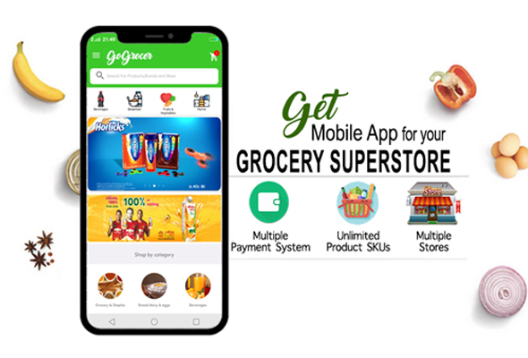 Grocery Store Mobile Apps with 3 Native Apps and Backend