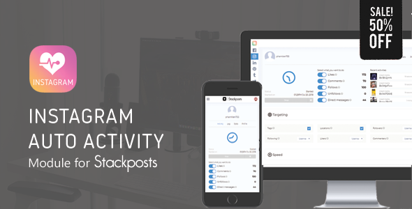 Instagram Auto Activity Module for Stackposts