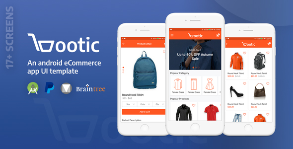 Bootic Full - An android eCommerce app with admin panel
