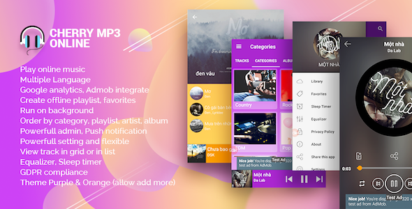 Cherry - Android Online Music Player