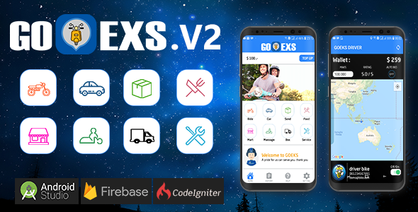 Goeks - Multi service providing app with admin panel