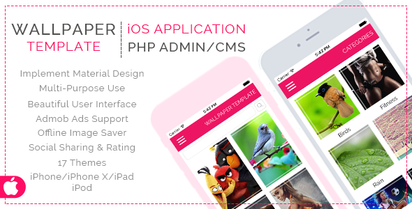 HD Wallpaper Template App