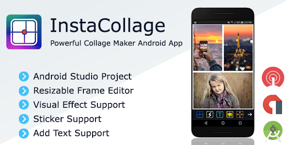 InstaCollage - Full Collage Maker Android Application + Admob and OneSignal Integration