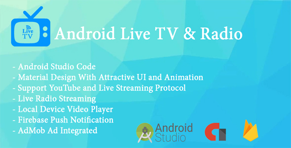 Live TV App With Radio Streaming and Local Video Player