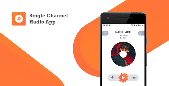 Single Channel Streaming Radio Application with Dynamic Backend