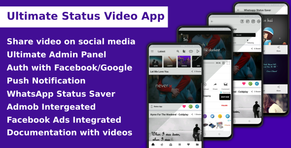 Ultimate Status Video App