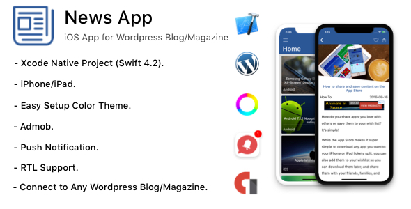 News App - iOS App for Wordpress Blog/Magazine