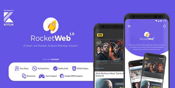 RocketWeb - Android web app solution | WebToApp