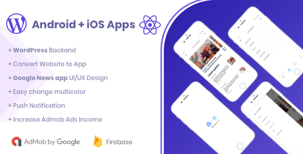 Webile News - React Native mobile app for Wordpress