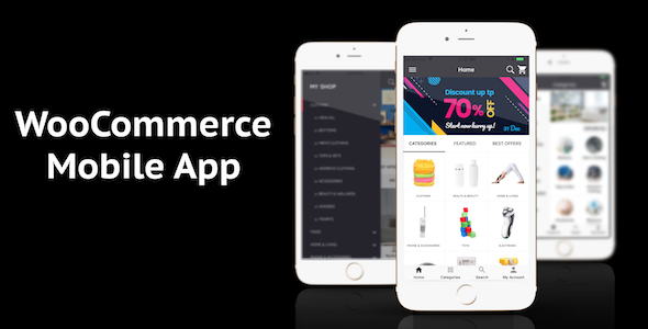 WooCommerce Mobile App ionic full application Lifestyle theme