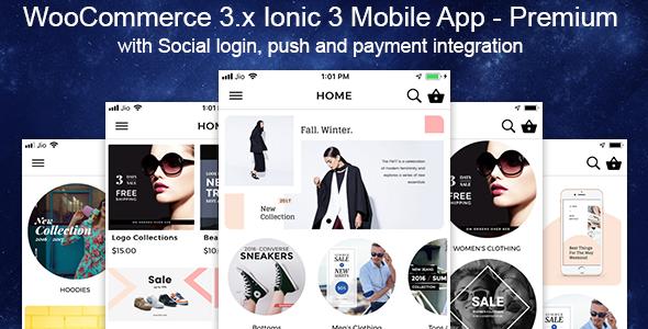 Woocommerce Mobile App Premium Theme Ionic 3