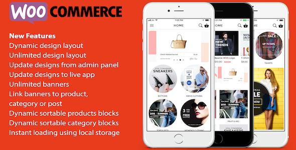 ionic 3 App for WooCommerce