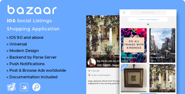 Bazaar | iOS Social Listings Shopping Application