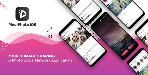 PixelPhoto IOS - Mobile Image Sharing & Photo Social Network