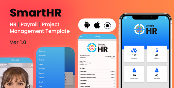 SmartHR | HR Management System - Ionic Mobile App Template