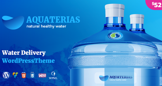 Aquaterias - Drinking Mineral Water Delivery WordPress Theme