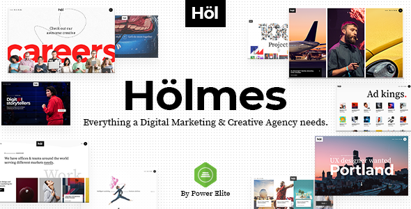 Download Holmes - Digital Agency Theme - Nulled PHP