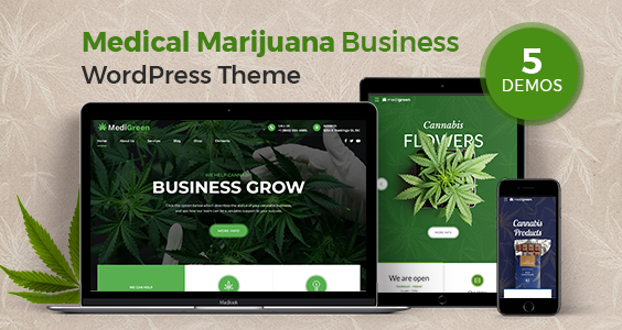 MediGreen - Medical Marijuana WordPress Theme
