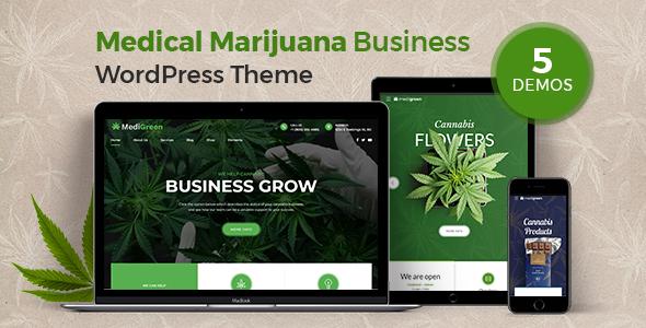MediGreen - Medical Marijuana WordPress Theme