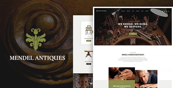 Mendel   Furniture Design & Restoration WordPress Theme
