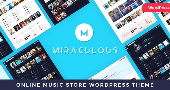 Miraculous - Online Music Store WordPress Theme