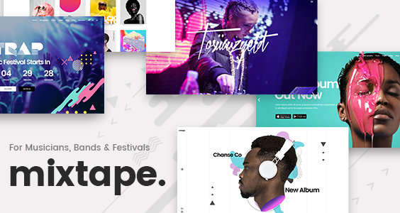 Mixtape - Music Theme for Artists, Bands, and Festivals