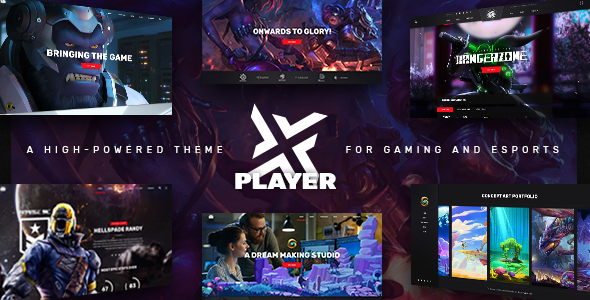 PlayerX - A High-powered Theme for Gaming and eSports