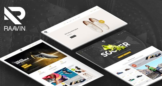 Raavin - Responsive WooCommerce WordPress Sport Shoes Theme