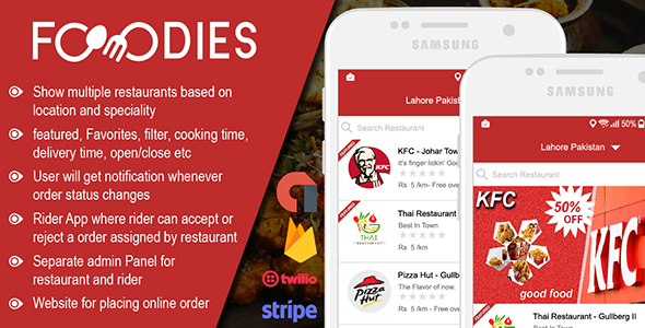 Restaurant Food Delivery & Ordering System With Delivery Boy - Android v1.0.1