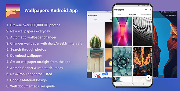 Wallpapers Android App - Admob Ready