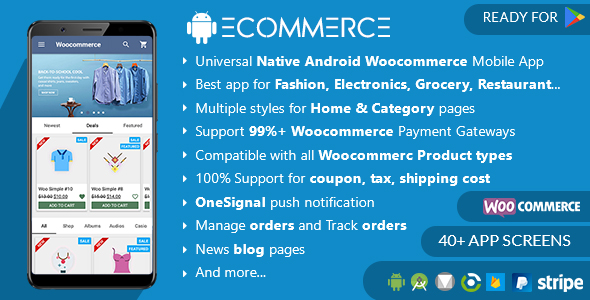 Download Android Woocommerce - Universal Native Ecommerce Store Full