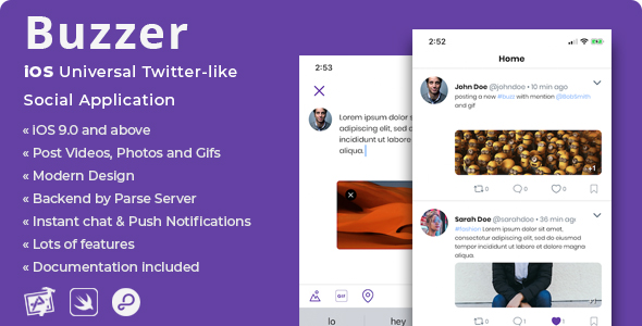Buzzer | iOS Twitter-like Social Application