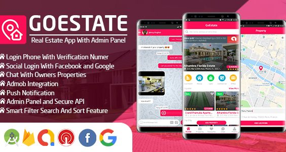 GoEstate - Real Estate App With Admin Panel