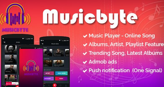 MusicByte (Android) - online Mp3 music player application
