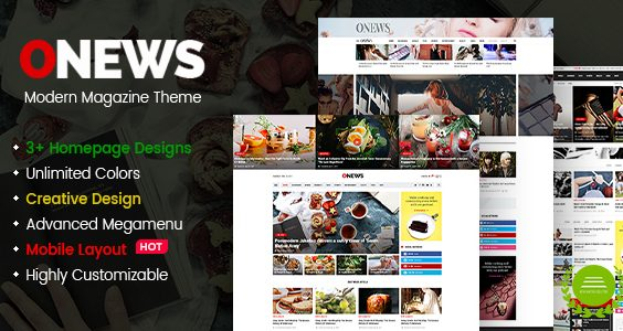 ONews - Modern Newspaper & Magazine Theme WordPress (Mobile Layout Ready)
