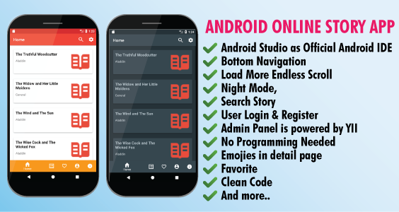 Online Android Story App