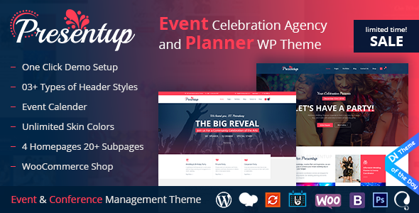 Presentup - Event Planner & Celebrations Management WordPress Theme