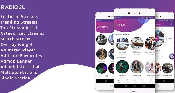 Radio2u - Multiple & Single Radio Station with Admin panel
