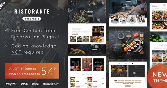 Ristorante - Restaurant WordPress Theme