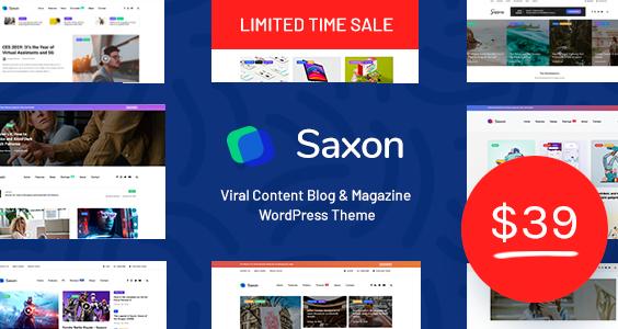 Saxon - Viral Content Blog & Magazine WordPress Theme