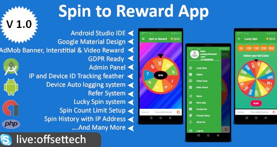 Android Spin Game App with Reward Points