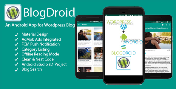 BlogDroid - Premium Wordpress Blog App with Push