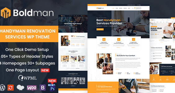 Boldman - Handyman Renovation Services WordPress Theme