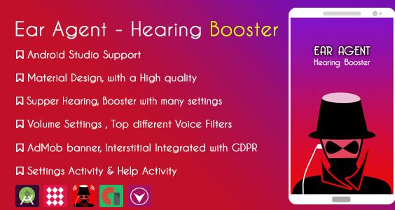 Ear Agent - Hearing Booster  & AdMob + GDPR