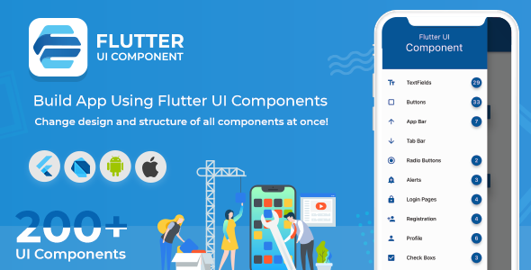 Flutter UI Component - Build App Using Material Design UI Kit