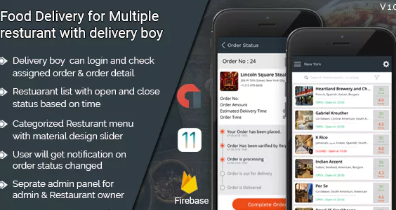 Food Delivery App for iOS