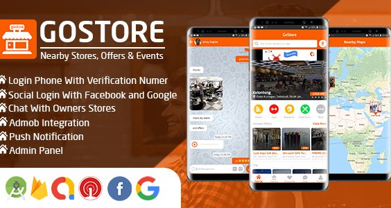 GoStore - Nearby Stores, Offers & Events With Admin Panel