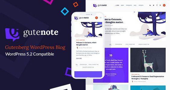 Gutenberg WordPress Creative Blog Theme - Gutenote