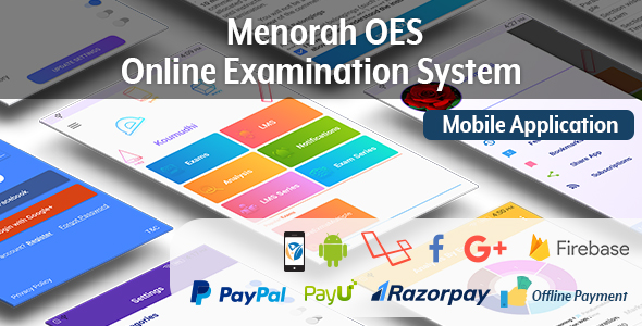 Menorah OES – Online Examination System Mobile App